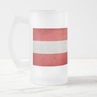 Austria Flag; Coffee Mug