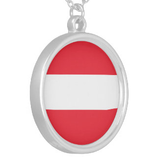 Austria Flag Silver Plated Necklace