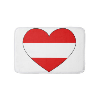 Austria Flag Simple Bath Mats