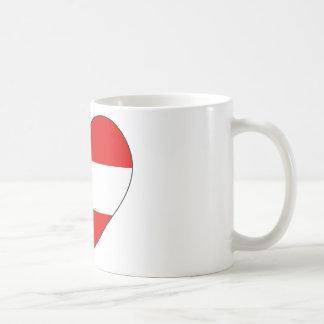 Austria Flag Simple Coffee Mug