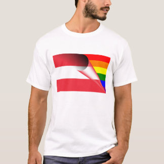 Austria Gay Pride Rainbow Flag T-Shirt