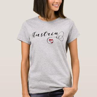 Austria Heart T-Shirt, Austrian Flag T-Shirt