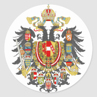 Austria Hungary Empire Classic Round Sticker