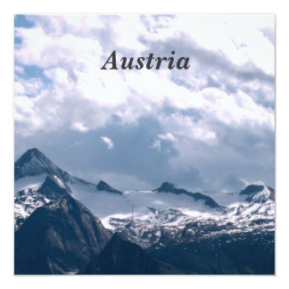 "Austria 5.25"" Square Invitation Card"