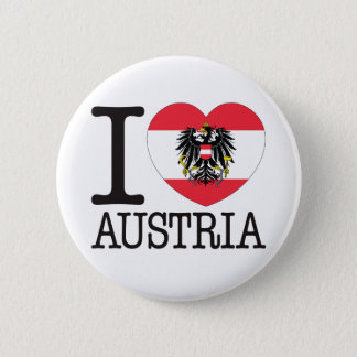 Austria Love v2 6 Cm Round Badge