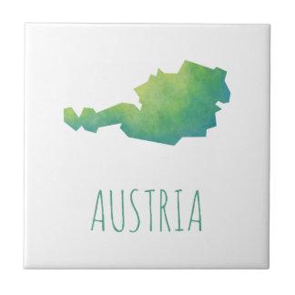 Austria Map Small Square Tile