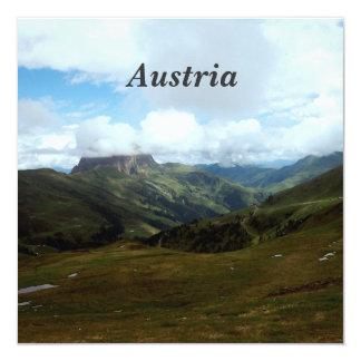 Austria Moutains 13 Cm X 13 Cm Square Invitation Card