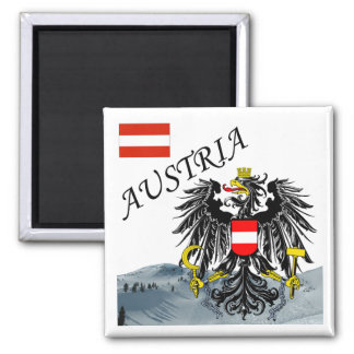 Austria - Osterreich Square Magnet