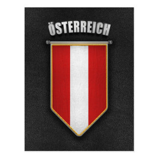 Austria Pennant with high quality leather look Postcard