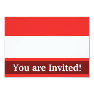 Austria Plain Flag 13 Cm X 18 Cm Invitation Card