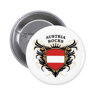 Austria Rocks Pinback Buttons
