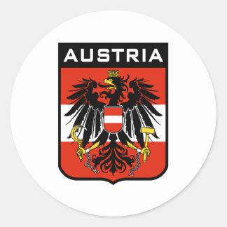 Austria Round Sticker