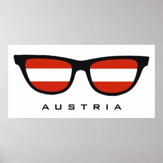 Austria Shades custom text & color poster