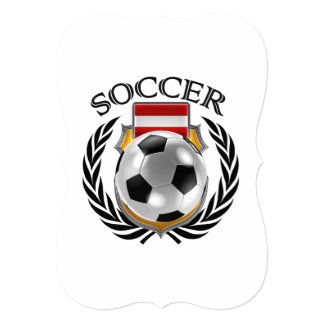 Austria Soccer 2016 Fan Gear 13 Cm X 18 Cm Invitation Card