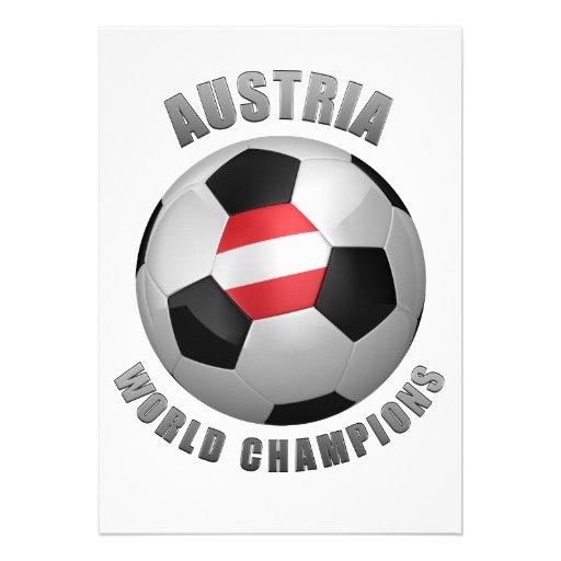 AUSTRIA SOCCER CHAMPIONS PERSONALIZED INVITES
