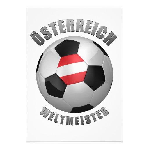 AUSTRIA SOCCER CHAMPIONS CUSTOM INVITATION
