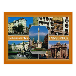 Austria,  Tirol, Innsbruck, Multiview Postcard