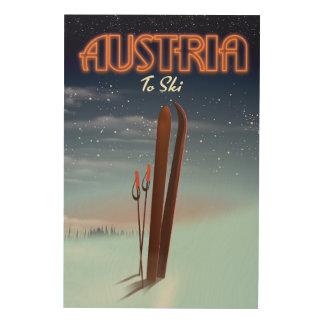 Austria To Ski - Winter ski travel poster to the A
