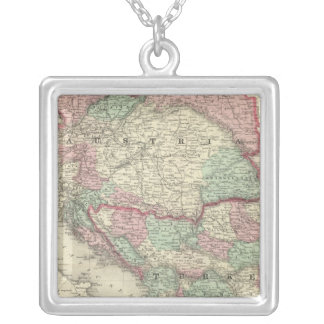 Austria, Turkey in Europe, and Greece Silver Plated Necklace
