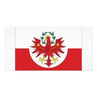 Austria Tyrol Flag Personalised Photo Card