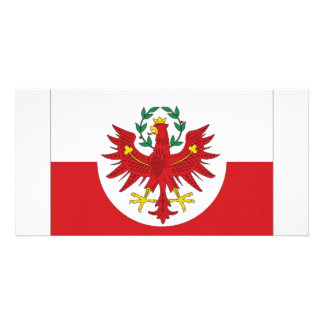 Austria Tyrol Flag Photo Greeting Card