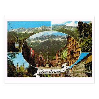Austria, Tyrol, Innsbruck multiview Postcard