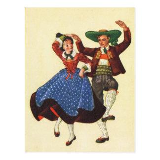 Austria, Tyrol, traditional folk dancers Postcard