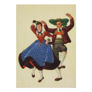 Austria,  Tyrolean folk dancing Poster