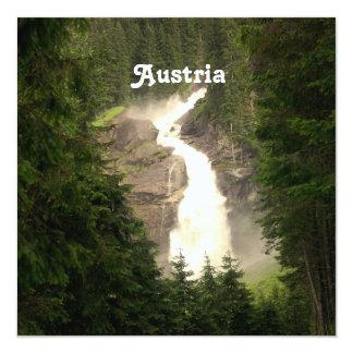 Austria Waterfall 13 Cm X 13 Cm Square Invitation Card