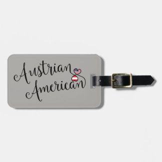Austrian American Entwined Heart Luggage Tag