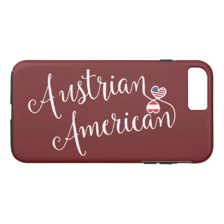 Austrian American Entwined Hearts Cell Phone Case