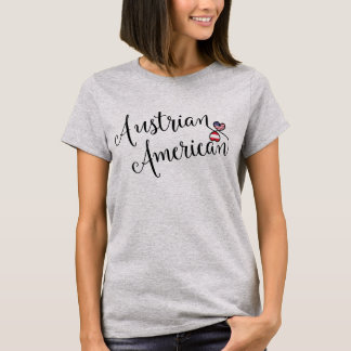 Austrian American Entwinted Hearts Tee Shirt
