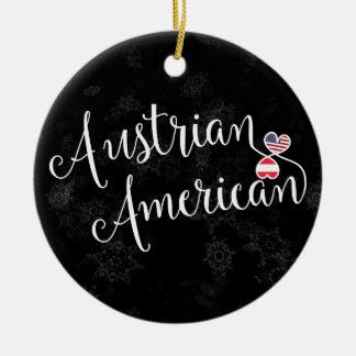 Austrian American Hearts Christmas Tree Ornament