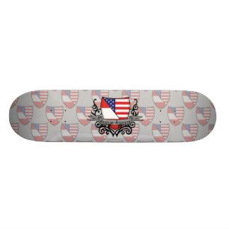 Austrian-American Shield Flag Skate Board