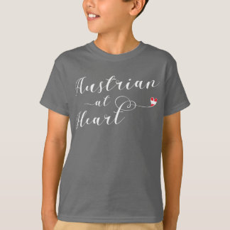 Austrian At Heart Tee Shirt, Austria