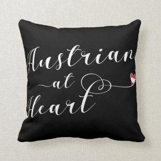 Austrian At Heart Throw Cushion, Austria Cushion