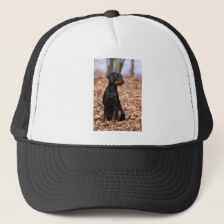 Austrian Black and Tan Hound Puppy Trucker Hat