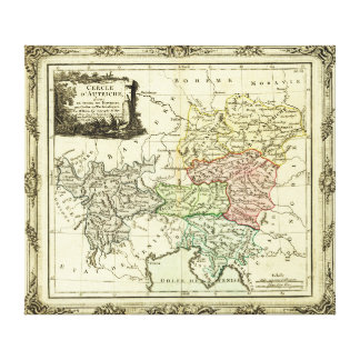 Austrian Circle of the Holy Roman Empire Map Canvas Prints