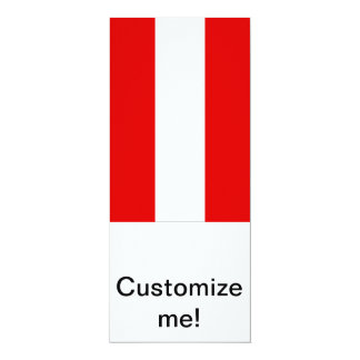 Austrian Flag 10 Cm X 24 Cm Invitation Card