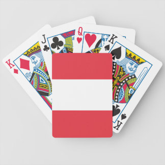Austrian Flag Bicycle Playing Cards