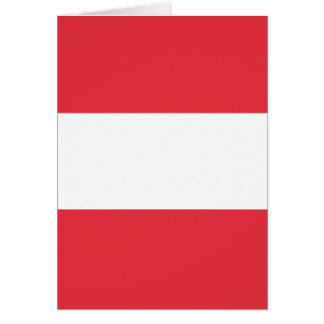 Austrian Flag Card