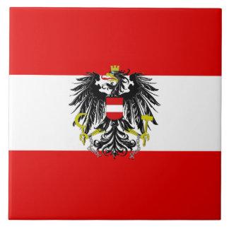 Austrian flag ceramic tile