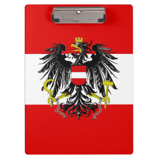 Austrian flag clipboard