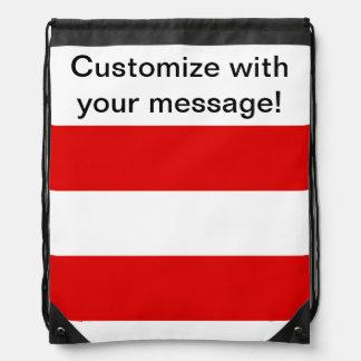 Austrian Flag Drawstring Bag