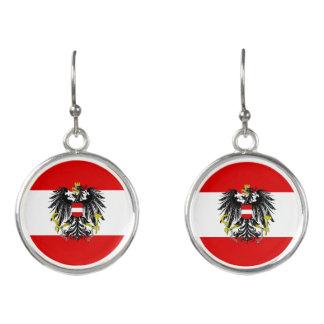 Austrian flag earrings
