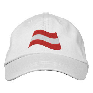 Austrian Flag Embroidered Hats