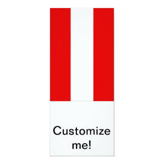 Austrian Flag 10 Cm X 24 Cm Invitation Card