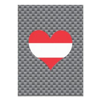 Austrian Flag on a cloudy background 13 Cm X 18 Cm Invitation Card