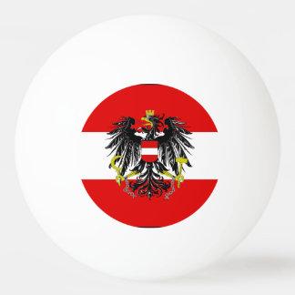 Austrian flag ping pong ball