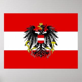Austrian flag poster